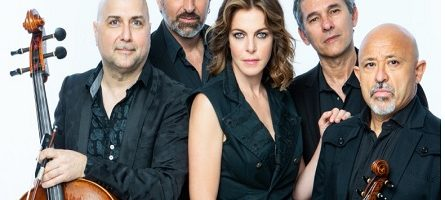 Claudia Gerini e i Solis String Quartet in concerto